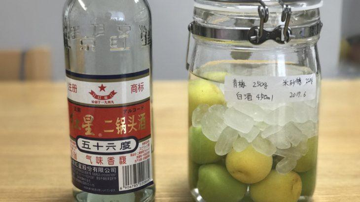 白酒 梅酒 【 紅星 二鍋頭酒 (アルコードシュ) × 南高梅 × 氷砂糖 】 2017年の梅仕事