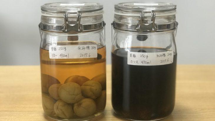 カシス 梅酒 【 ルジェ クレーム ド カシス × 南高梅 × 氷砂糖 】 22ヶ月目