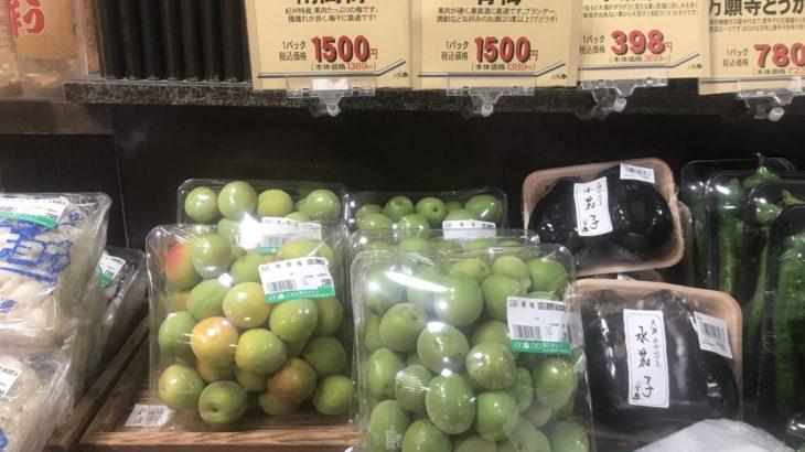 首都圏の青梅の販売状況 (2019年06月01日〜10日)