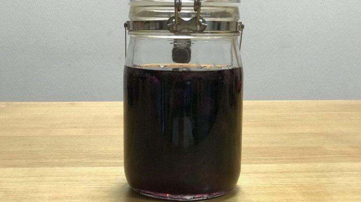 ブルーベリー酒 【 冷凍ブルーベリー × ホワイトリカー × 氷砂糖 】の作り方 (2019年7月)